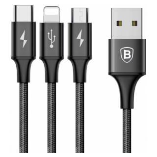 Фото - BASEUS Rapid 3-in-1 Cable Black