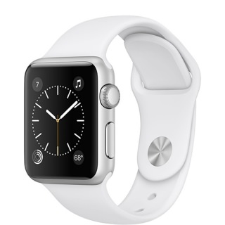 Фото - Apple Watch Series 1 38mm Silver Aluminum Case with White Sport Band (MNNG2) US
