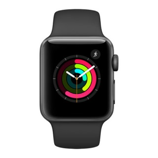Фото - Apple Watch Series 1 42mm Space Grey Aluminium Case Black Sport Band MP032 (US)