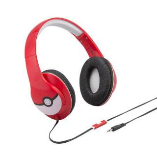 IHOME Pokemon Over The Ear Headphones Red/White