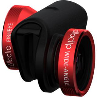 Фото - OLLOCLIP 4-in-1 Lens System- iPhone 5/5S Red Lens/Black