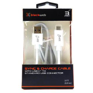 Фото - BLACKWEB Bwa17wi034 USB-C To USB 3.0 Cable 3ft White