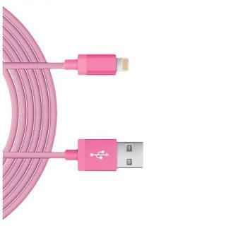 Фото - JUST WIRELESS Lightning 5- Mesh Cable Pink