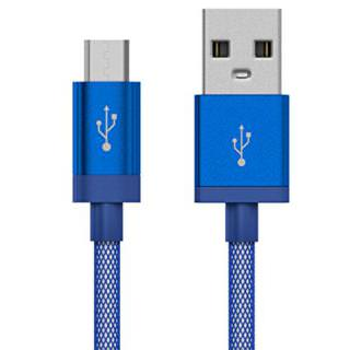 Фото - JUST WIRELESS microUSB 5- Mesh Cable Blue (BULK)