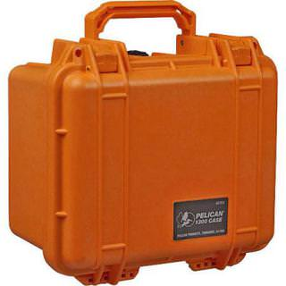 PELICAN Watertight Mini-D Hard Case/Foam Insert Orange