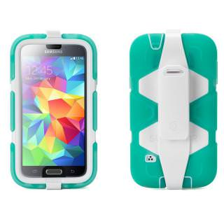 Фото - GRIFFIN Survivor All-Terrain Case for Samsung Galaxy S5 White/Green