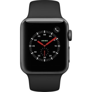Фото - Apple Watch Series 3 GPS + Cellular 38mm Space grey Aluminum w. Black Sport B. (MQJP2)