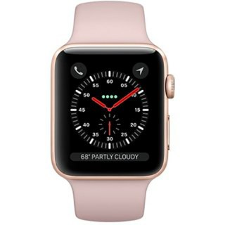 Фото - Apple Watch Series 3 GPS + Cellular 42mm Gold Aluminum w. Pink Sand Sport B. (MQK32)