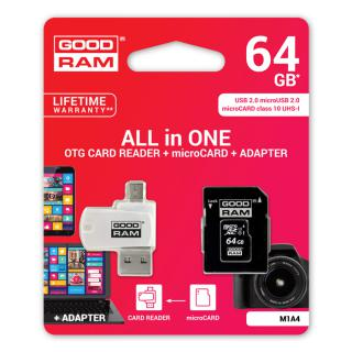 Фото - GOODRAM 64 GB microSDXC Class 10 UHS-I + SD-adapter
