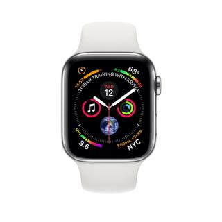 Фото - Apple Watch Series 4 White Sport Band 44mm Silver Aluminum (MU6A2)
