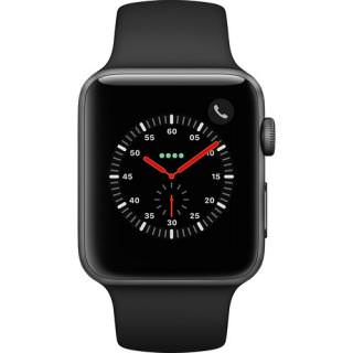 Фото - Apple Watch Series 3 GPS + Cellular 42mm Space Grey Aluminum w. Black Sport B. (MQK22)