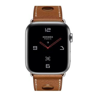 Apple Watch Hermes Series 4 GPS + LTE 40mm Steel w. Fauve Grained Barenia Leather (MU6M2)