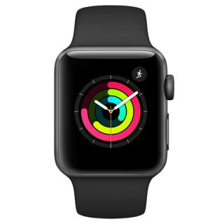 Фото - Apple Watch Series 3 GPS 38mm Aluminum w. Black Sport B. Space Grey (MQKV2)