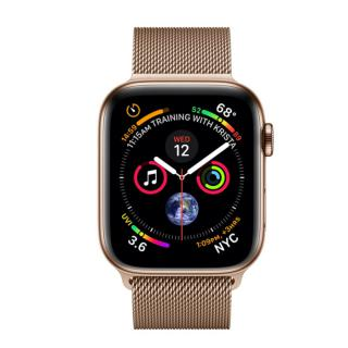 Фото - Apple Watch Series 4 GPS + LTE 40mm Gold Steel w. Gold Milanese l. Gold Steel (MTUT2/MTVQ2)