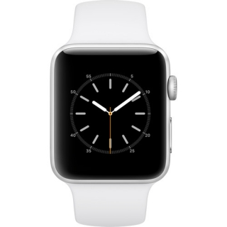 Фото - Apple Watch Series 2 42mm Silver Aluminum Case with White Sport Band (MNPJ2)