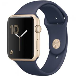 Фото - Apple Watch Series 2 42mm Gold Aluminum Case with Midnight Blue Sport Band (MQ152)