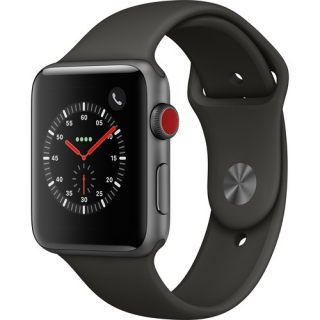 Фото - Apple Watch Series 3 GPS + Cellular 42mm Space Gray Aluminum w. Gray Sport B. (MR2X2)