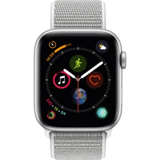 Apple Watch Series 4 GPS + LTE 44mm Silver Alum. w. Seashell Sport l. Silver Alum. (MTUV2/MTVT2)