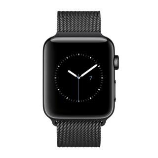Фото - Apple Watch Series 3 GPS + Cellular 38mm Space Black Stainless Steel w. Space Black Milanese L. (MR1H2)