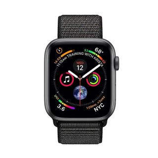 Фото - Apple Watch Series 4 GPS 44mm Gray Alum. w. Black Sport l. Gray Alum. (MU6E2)