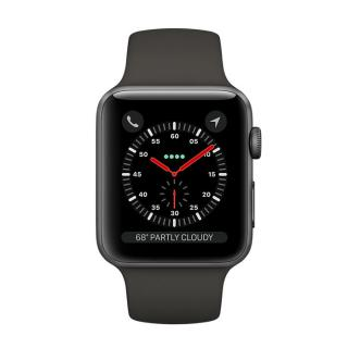 Фото - Apple Watch Series 3 GPS + LTE 38mm Space Gray Aluminum Case with Gray Sport Band (MQKG2)