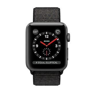 Фото - Apple Watch Series 3 GPS + Cellular 38mm Space Gray Aluminum w. Black Sport L. (MRQE2)