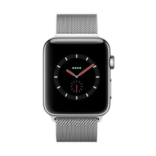 Фото - Apple Watch Series 3 GPS + Cellular 42mm Stainless Steel w. Milanese L. (MR1J2)