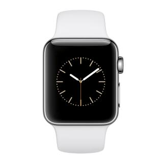 Фото - Apple Watch Series 3 (GPS + Cellular) 42mm Silver Aluminum Case with White Sport Band (MTGR2)