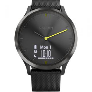 Фото - Garmin Vivomove HR Black with Black Silicone Band (010-01850-11)