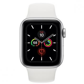 Фото - Apple Watch Series 5 GPS 44mm Silver Aluminum w. White b.- Silver Aluminum (MWVD2)