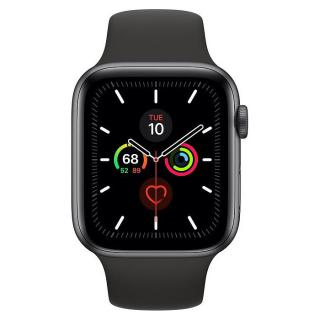 Apple Watch Series 5 LTE 44mm Space Grey Aluminum w. Black b.- Space Grey Aluminum (MWW12)
