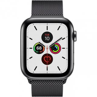 Фото - Apple Watch Series 5 LTE 44mm Space Black Steel w. Space Black Milanese Loop - Space Black Steel (MWW82)
