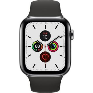 Фото - Apple Watch Series 5 LTE 44mm Space Black Steel w. Black b.- Space Black Steel (MWW72)