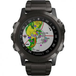 Фото - Garmin D2 Delta PX Aviator Watch With Carbon Grey Titanium Band 51mm (010-01989-30)