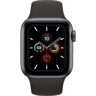 Apple Watch Series 5 LTE 40mm Space Grey Aluminum w. Black b.- Space Grey Aluminum (MWWQ2)