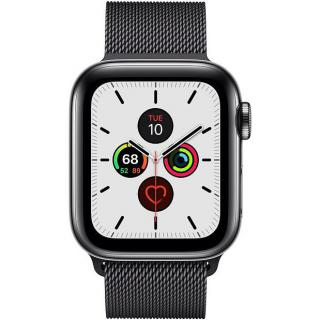 Фото - Apple Watch Series 5 LTE 40mm Space Black Steel w. Space Black Milanese Loop - Space Black Steel (MWWX2)