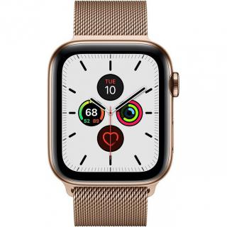 Фото - Apple Watch Series 5 LTE 44mm Gold Steel w. Gold Milanese Loop - Gold Steel (MWW62)