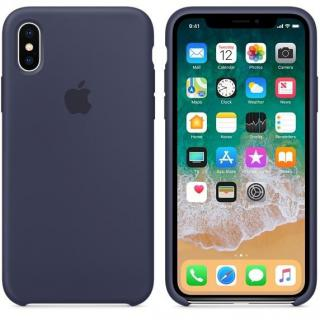 Фото - Apple iPhone X Silicone Case - Midnight Blue (MQT32)