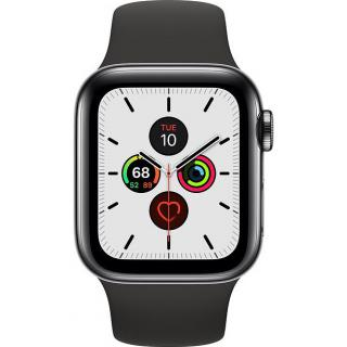 Фото - Apple Watch Series 5 LTE 40mm Space Black Steel w. Black b.- Space Black Steel (MWWW2)