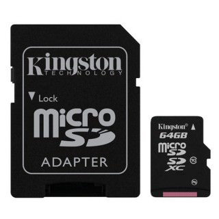 Фото - Kingston 64 GB microSDXC class 10 + SD Adapter SDCX10/64GB