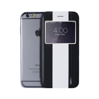 REMAX Book Cover with Window iPhone 6 Plus Black/White