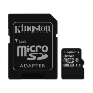 Фото - KINGSTON 32GB microSDHC C10 UHS-I R45/W10MB/s + SD адаптер