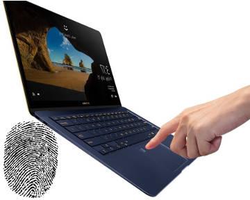 Ноутбук со сканером отпечатка пальца